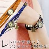 レトロで可愛い♪アンティークカラーのお洒落ウォッチ【ボヘミアンブレス腕時計】アジアン雑貨