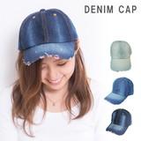 キャップ 帽子 メンズ レディース デニム ダメージ加工 ウォッシュ加工 キーズ Keys