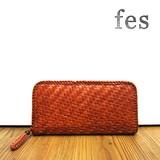 【fes】カウレザーメッシュラウンド型長財布