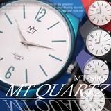 【選べるケース有or無】腕時計 薄型 ラバーバンド ウォッチ◇MT-S066