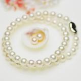 【春のフォーマルフェアー】アコヤ厚巻き高品質真珠 パールフォーマッルセット 約7.5-8.0mm シルバー SV