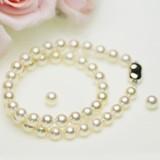 アコヤ 厚巻き 高品質 真珠 パール フォーマッル セット 約8.0-8.5mm シルバー SV