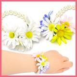 お花のパールブレスレットB