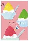 夏柄イラストポストカード(樹脂盛り):フラッグ氷