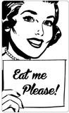 ステッカーNo,1231 Eat me Please!