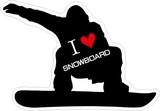 ステッカーNo,1232 I LOVE SNOWBOARD