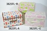 【新花柄】 折りたたみ式 フタ付き収納ボックス 3柄