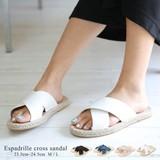◆エスパドリーユクロスサンダル/靴/リゾートシューズ/雑貨◆422808