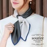 4スクエア配色スカーフ