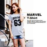 【当社生産 国内ライセンス】MARVEL Tシャツ レディース メンズ キッズ アイアン ディズニー