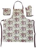【バラ雑貨】キッチンファブリック3点セット グレースローズ