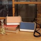 【先行販売】(8月納品)カシュカシュ cachecache / カラーコンビ2wayお財布ショルダーバッグ