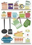 ウォールステッカー 北欧キッチン S/Lサイズ (インテリアシール/壁紙/模様替え)☆Wall Sticker☆