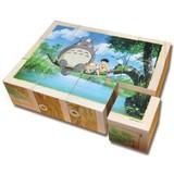 となりのトトロ 木の絵あわせ12ピース!6面楽しめる!木製キューブパズル!スタジオジブリ