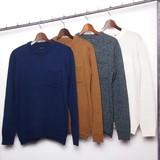 【SALE】【2016年秋冬新作】【メンズ】アクリルコットンポケットクルーネックセーター