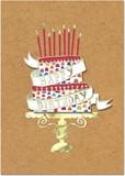 MOLLY&REX グリーティングカード <ケーキ>