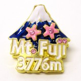Japanese Style Magnet Clip Mt. Fuji Gold