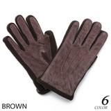Excellent カジュアル メンズ 手袋 リアルピッグレザーWカフスグローブ手袋 607905