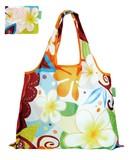 ショッピングバッグ 「 Plumeria 」 折りたたみエコバッグ 【デザイナーズジャパン】 中村メグミ