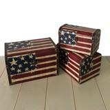 【送料無料:直送可】アメリカン/ドーム型ボックス/小物入れ(収納箱)/店舗ディスプレイ/星条旗