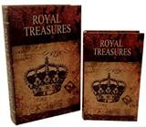 【別途送料】ブックボックス/『ROYAL TREASURES』ブック型収納ボックス/小物入れ/インテリア雑貨