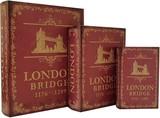 【別途送料】【別途送料】ブックボックス『LONDON BRIDGE』ブック型収納ボックス/小物入れ/インテリア雑貨