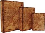 【別途送料】ブックボックス/古代地図/ブック型収納ボックス/小物入れ/インテリア雑貨/アパレル店舗