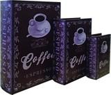 【別途送料】ブックボックス『COFFEE』ブック型収納ボックス/小物入れ/インテリア雑貨/アパレル店舗