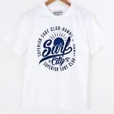【SALE 20%OFF】【2016年春夏新作】クルーネック半袖プリントTシャツ SURF CITY1976