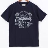 【2016年春夏新作】クルーネック半袖プリントTシャツ CALIFORNIA SURF CO