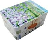 フランス バイオレット花畑缶 バターショートブレッド130g