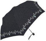 ★シルバーコーティング晴雨兼用折り畳み傘<UV99%カット>【鳥かごピンドット】 ☆50cm