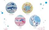 コンパクトミラー 海の生き物デザイン 拡大鏡付 4種