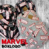【当社生産 国内ライセンス】MARVEL BOXロゴ 総柄 スウェット リュック バッグ アイアン ディズニー