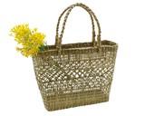 ハノイバスケット カゴバッグ ☆水草の手編みカゴです