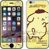 ポムポムプリン iPhone6s/6ガラスフィルム アップ SAN-545A