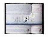 【日本製】今治ぼかし織りタオルギフト バスタオル1枚 ハンドタオル1枚セット