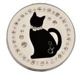 【コンパクトミラー】 黒猫