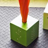 《アウトレット》キューブ傘立て 1本立て傘立て グリーン