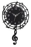 音符振り子時計