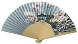 【桜モチーフ】【和雑貨】紳士用扇子75型35間 富獄三十六景 灰青