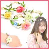 BRN0922-0925の花ブレスレット