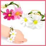 BRN0928-0929の花ブレスレット