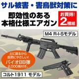 【直送可】【送料無料】アメリカ軍モデルエアガン2種組(バイオBB弾付き)M4 R-I-S コルト1911