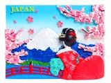 日本マグネット 舞妓と富士◆外国人観光客向け.お土産.新柄◆