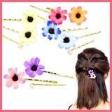 お花とパールの3本セットヘアピンA