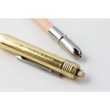 【高級感のある大人デザイン】ブラス ボールペン 無垢