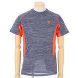 【16夏物入荷】 吸汗速乾半袖Tシャツ 杢調のスポーツタイプ