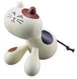 ツボおすわりニャンコ 三毛猫