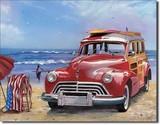 ブリキ看板 Surfboard w/Woody RD #1124